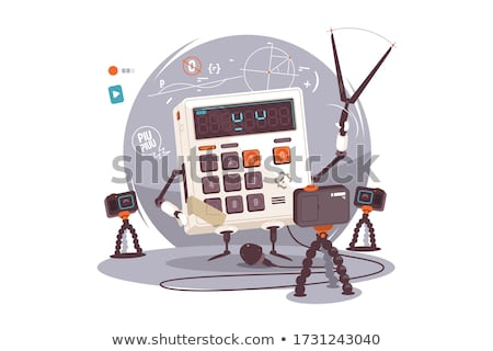 Robot explaining mathematical examples Stock photo © jossdiim