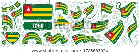 Vector set of the national flag of Togo in various creative designs Stock photo © butenkow