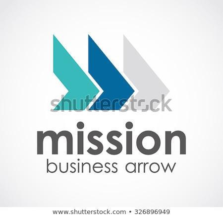 Projektu trójkąt arrow logo wektora szablon Zdjęcia stock © kyryloff