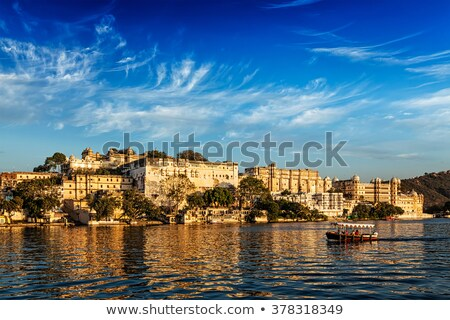 Сток-фото: City Palace View From The Lake Udaipur Rajasthan India