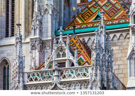 Arquitectónico estilo hermosa interior católico catedral Foto stock © artjazz