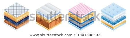 Matratze Schaum Schichten Symbol Vektor Stock foto © pikepicture