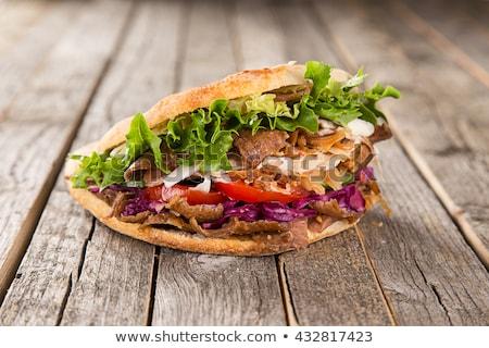 kebap · ekmek · kuzu · fast-food · baharatlar - stok fotoğraf © fotografci