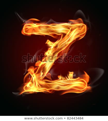 fire letters a z stock photo © rastudio