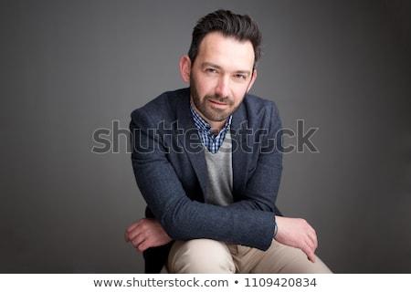 Portré idősebb üzletember iroda üzlet munkás Stock fotó © HASLOO