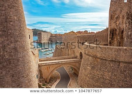 Сток-фото: защита · Дубровник · старые · средневековых · пушка · форт