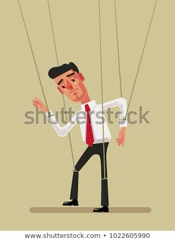 Marionnette employé affaires homme triste stress Photo stock © pkdinkar