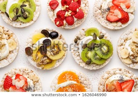 риса · торты · свежие · фрукты · Ломтики - Сток-фото © aladin66