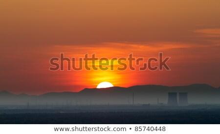 erőmű · klímaváltozás · hűtés · tornyok · szén · ipar - stock fotó © fisfra
