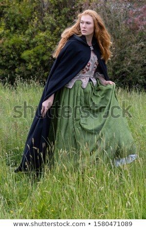 beautiful attractive female long red hair stock photo © lovleah
