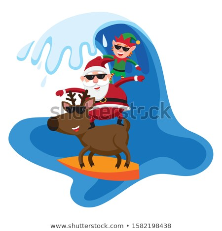 santa claus in southern hemisphere Stock photo © freesoulproduction