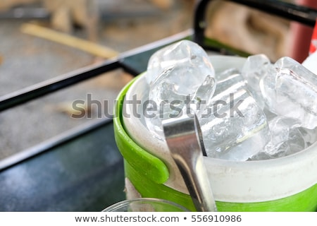 Balde restaurante diversão aço branco Foto stock © Pixelchaos