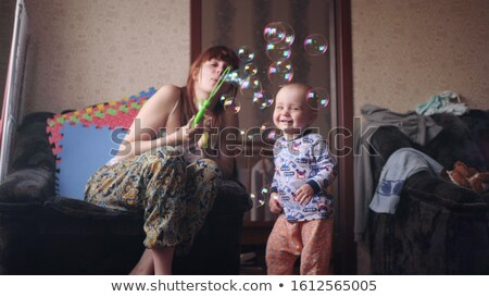 girl who blow bubbles Stock photo © mayboro