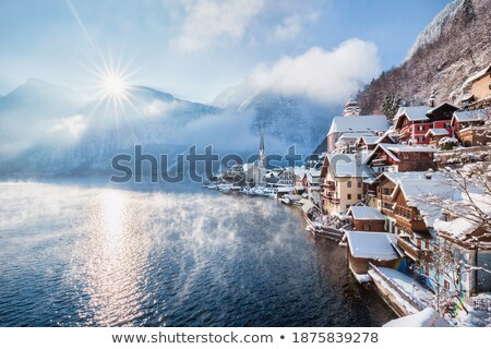 Alpejski dekoracje kościoła mroźny rano piękna Zdjęcia stock © photocreo