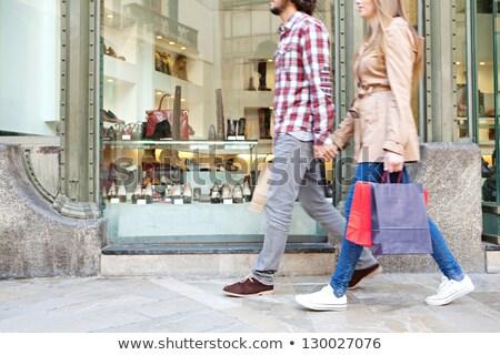 Casal sacos compras trio homem paisagem Foto stock © photography33