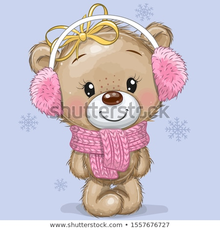 pink Teddy bear with greeting card Stock photo © marinini