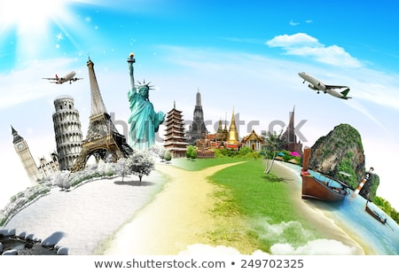 In tutto il mondo viaggio illustrazione globale vacanze aereo Foto d'archivio © pkdinkar
