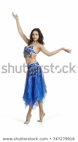 belly dancer isolated on a white background stock photo © nobilior