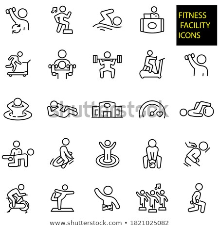 Stock photo: kettlebell and exercise balls