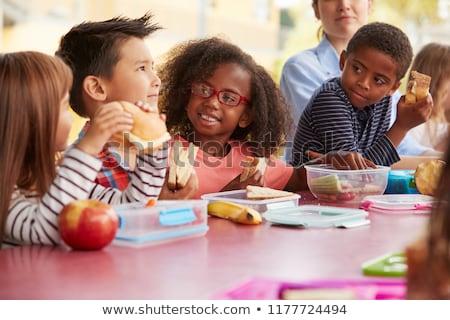 ストックフォト: 健康 · ランチ · 学校 · 少女