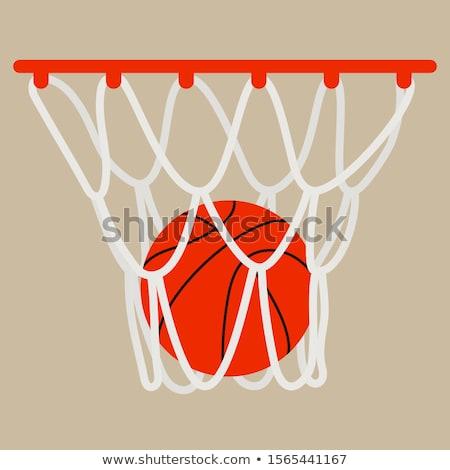 Basketbal cartoon afbeelding schieten rand net Stockfoto © chromaco
