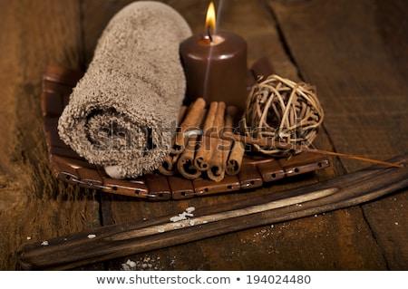 csokoládé · fürdő · fahéj - stock fotó © joannawnuk