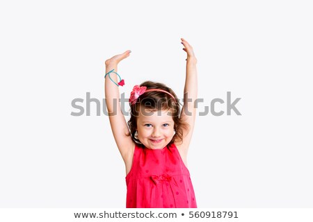 enfants · Kid · rire · heureux · bras · up - photo stock © lunamarina