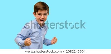 enfants · excité · Kid · heureux · gagnant · isolé - photo stock © lunamarina