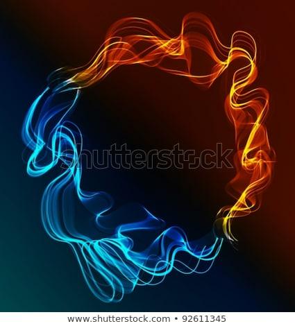 抽象的な · 青 · 赤 · 氷 · 火災 · 白 - ストックフォト © elmiko
