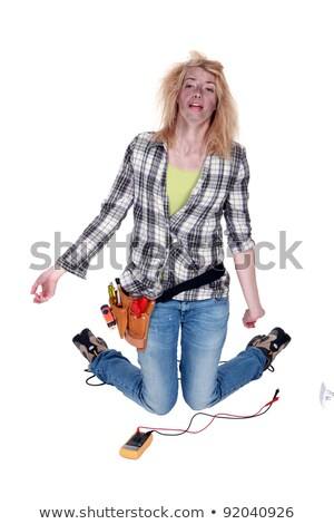 female electrician severely burned after an electric shock Stock photo © photography33
