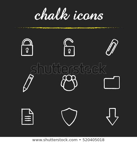 A Lock drawn with chalk stock photo © bbbar