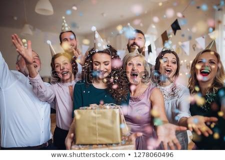 Család születésnapi buli férfi boldog születésnap anya Stock fotó © photography33