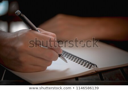 business people writing in a diary stock photo © photography33
