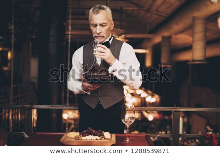 Man smelling glass of wine Stock photo © photography33