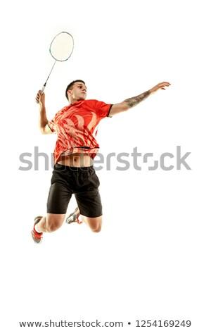 athlete badminton player stock photo © sahua