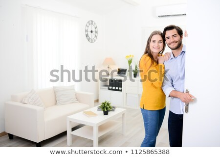 Heureux maison affaires femme homme Photo stock © photography33