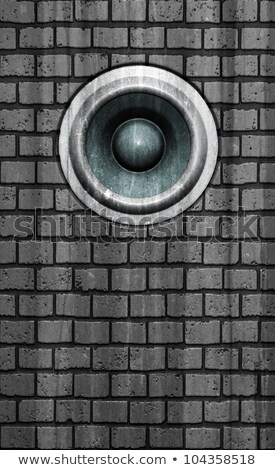 3d grunge old wall speaker sound system deejay DJ Stock photo © Melvin07