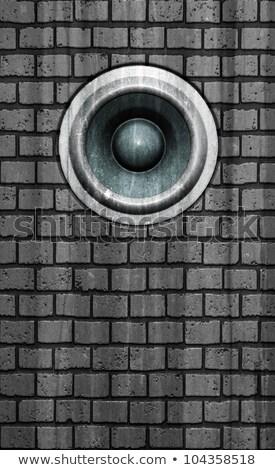 3D grunge eski duvar konuşmacı ses Stok fotoğraf © Melvin07