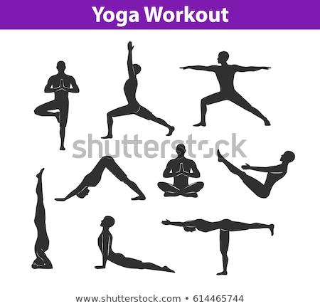 yoga standing #3 Stock photo © dolgachov