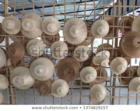 barna · hajú · megnyugtató · szalmakalap · tengerpart · nő · boldog - stock fotó © photography33