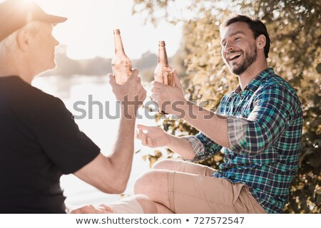 Father and son at a bottle bank Stock photo © photography33
