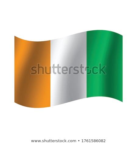 политический флаг Берег Слоновой Кости Мир стране Сток-фото © perysty