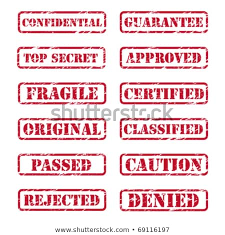 Corrected rubber stamp Stock photo © IMaster