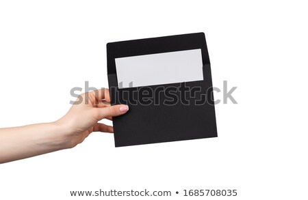 Woman holding an envelope with an at sign on it Stock photo © photography33