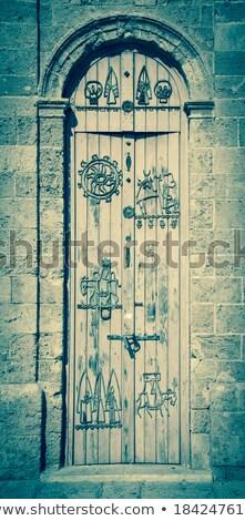 Foto stock: Azul · turquesa · mediterráneo · puerta · casa · textura