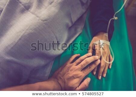 iki · parmaklar · tendon · hasta · oda - stok fotoğraf © melpomene