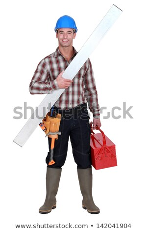 full-length portrait of craftsman all smiles Stock photo © photography33