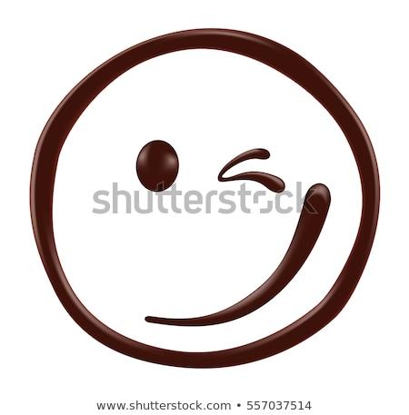 chocolate · sorrir · bom · morena · perfeito · compensar - foto stock © carlodapino