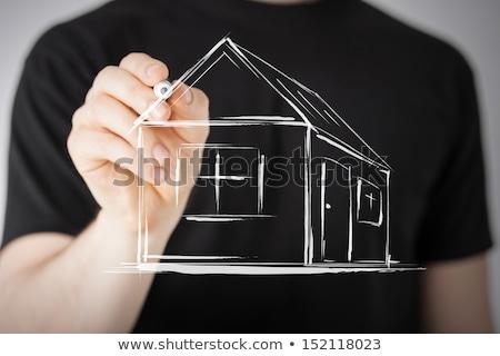 домах · экране · недвижимости · здании · строительство - Сток-фото © stuartmiles