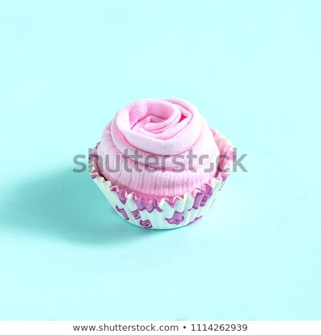 imitation cupcakes with blue background Stock photo © compuinfoto